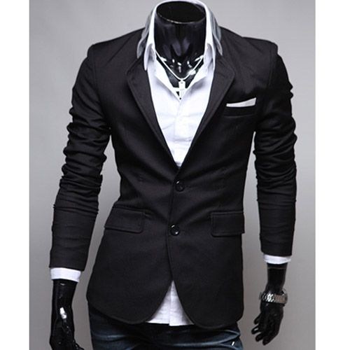 veste homme fashion jacket men suit slim fit noir vyrui pinterest casual chic mode homme. Black Bedroom Furniture Sets. Home Design Ideas