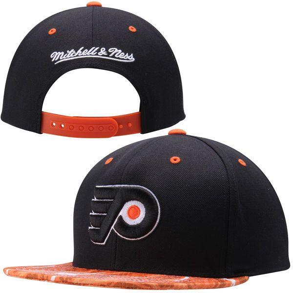 4341b2a22ac41 ... netherlands philadelphia flyers mitchell ness stroke camo snapback  adjustable hat black 22.99 75586 001b9