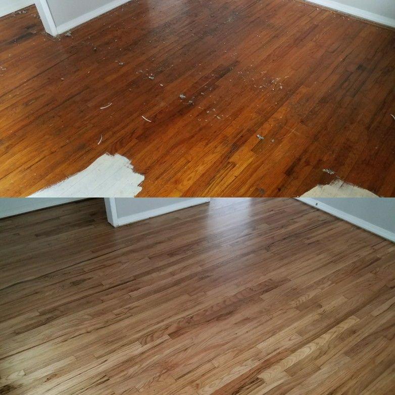After A Property Management Company Removed Carpet They Discoverd 2 1 4 Red Oak Hardwood Throughout This Duplex With A Limi Red Oak Hardwood Hardwood Red Oak