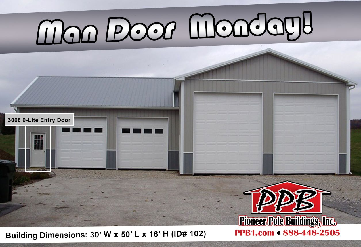 Man Door Monday Dimensions 30 W X 50 L X 16 H Id 102 With A 30 W X 32 L X 12 H Attachment 30 S Residential Garage Doors Garage