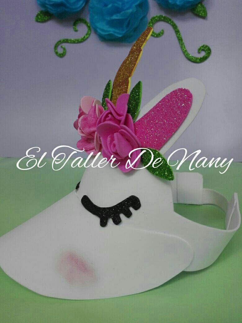 zapatos de temperamento novísimo selección variedad de diseños y colores Ideas para fiesta de unicornio Visera unicornio en foami ...