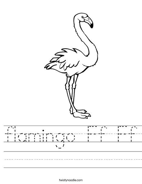 flamingo Ff Ff Worksheet - Twisty Noodle | Letter F ...