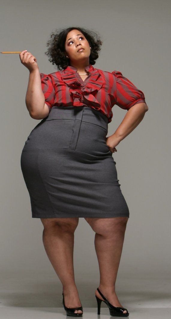 JIBRI Plus Size High Waist Pencil Skirt It's about time a plus ...
