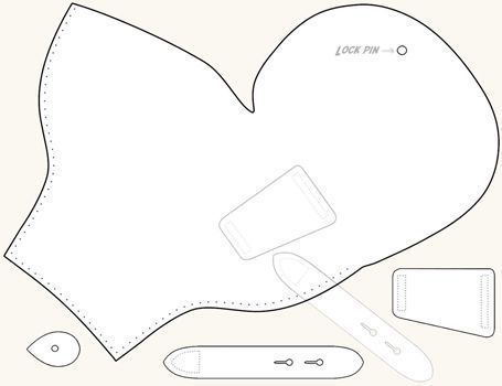 photo relating to Printable Holster Patterns identify Pin upon pits Plans