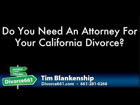 Do You Need An Attorney For Your California Divorce?  This video is about divorce attorney and if you need them during your divorce in California. There are situations where you may need an attorney with your California divorce but most of the time attorneys are not needed. Check out the video below to know more.