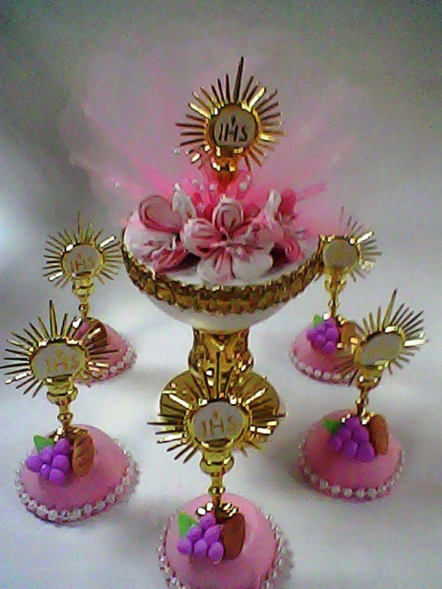 Como hacer adorno para comunion buscar con google comunion pinterest communion first - Como hacer centros de mesa para comunion ...