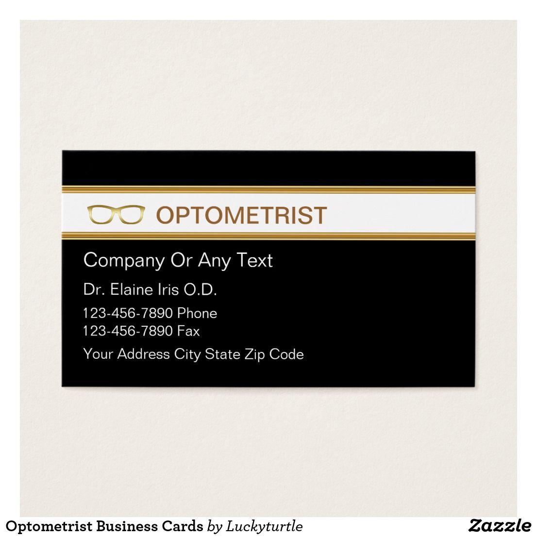Optometrist Business Cards | Pinterest