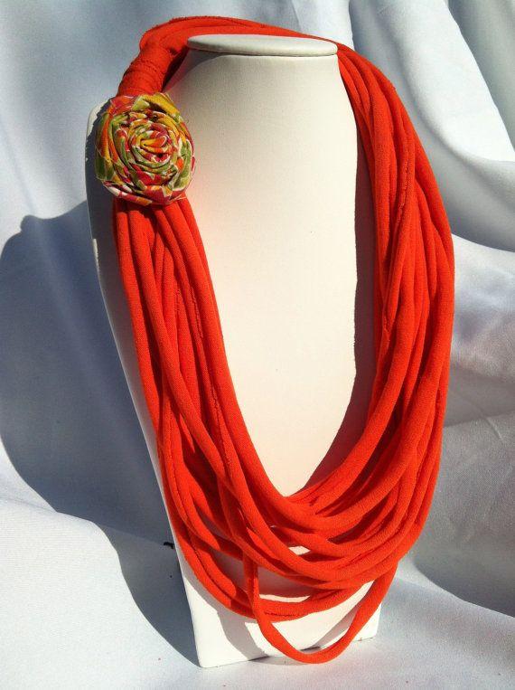 Infinity Scarf Vibrant Orange by adaisyday on Etsy, $14.00