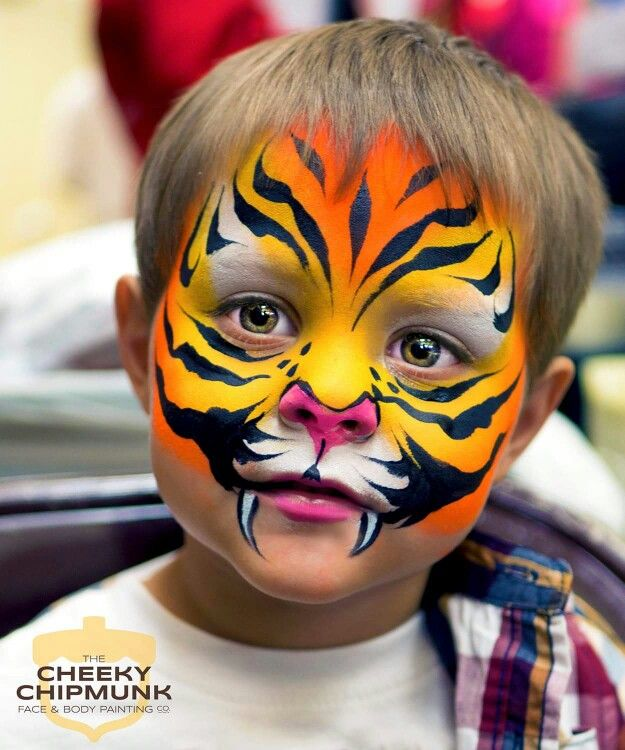 Face painting tiger simple — 2