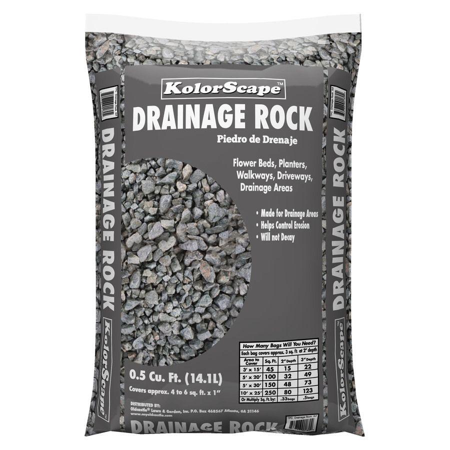 Oldcastle 0 5 Cu Ft Gray Drainage Rock Lowes Com Landscaping Rock Landscaping With Rocks Rock Drainage