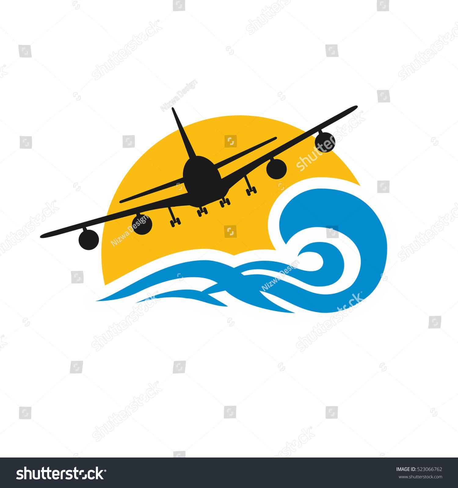 Airplane Travel Logo Design Template アイコン
