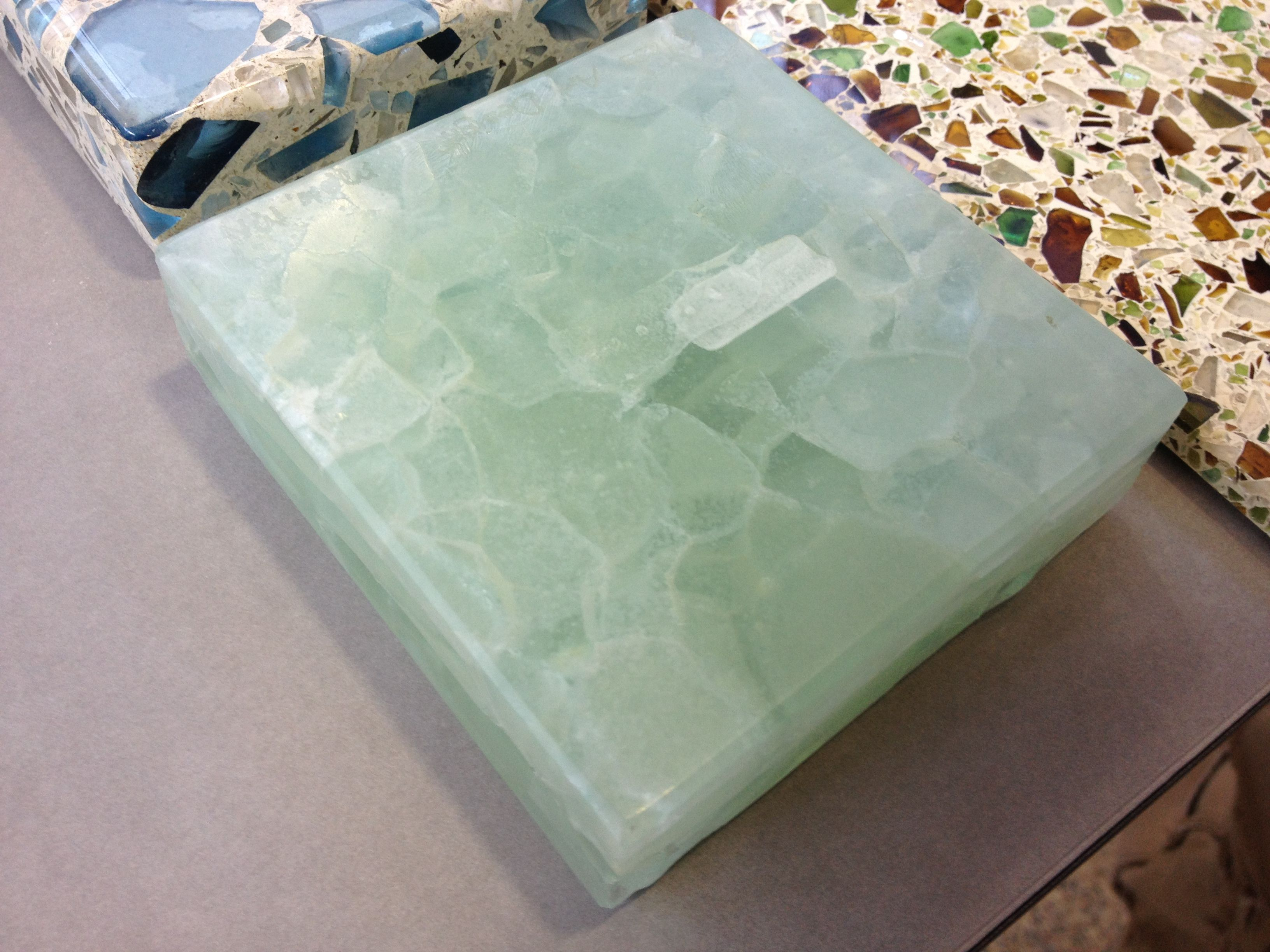 recycled glass kitchen countertops craftsman hardware sea home design ideas pinterest
