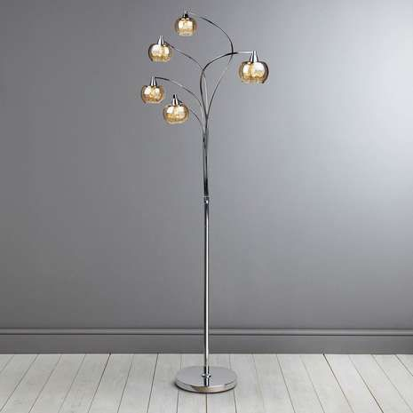 Seychelles Chrome 5 Light Floor Lamp