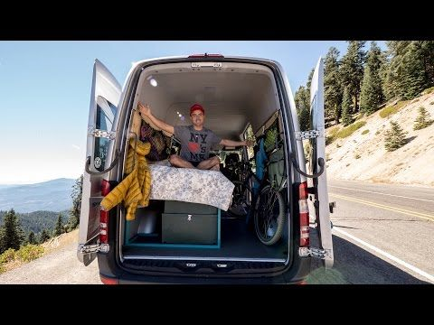 Sprinter Van Conversion My Diy Setup For Less Than 1 200 Youtube There Are A Lot Of Great Sprinter Van Conversion Sprinter Van Camper Van Conversion Diy