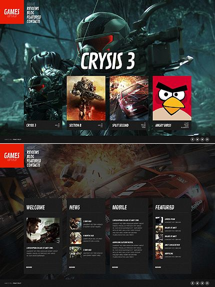 Games Website Template | Portal website and Template
