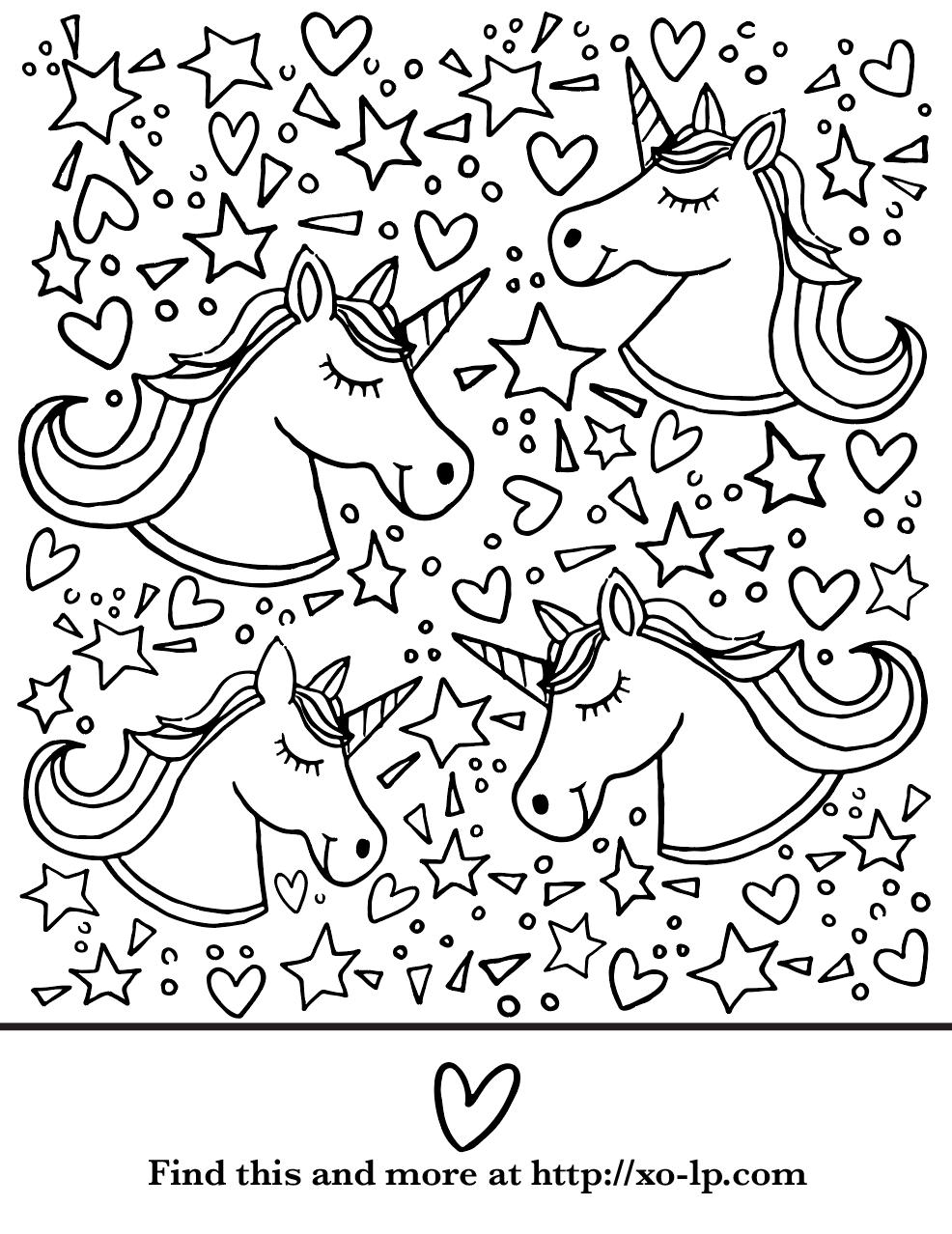 Unicorn Coloring Page Xo Lp Unicorn Coloring Pages Coloring Pages Halloween Coloring Pages [ 1278 x 986 Pixel ]