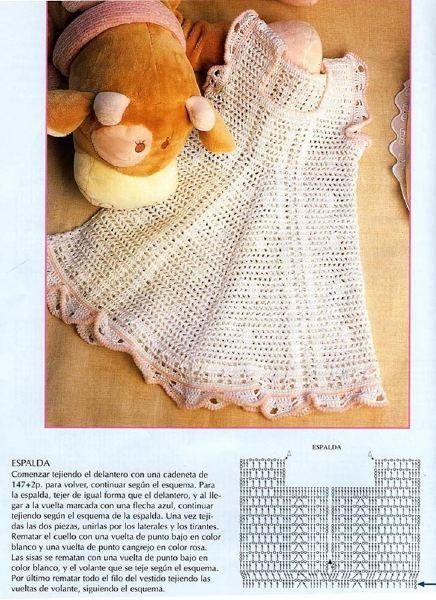 TRICO y CROCHET-madona-mía: Vestidos a crochet para bebes con ...