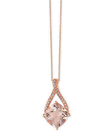 3243c31676c7 EFFY® Blush Morganite (2-5 8 ct. t.w.) and Diamond Accent Pendant Necklace  in 14k Rose Gold
