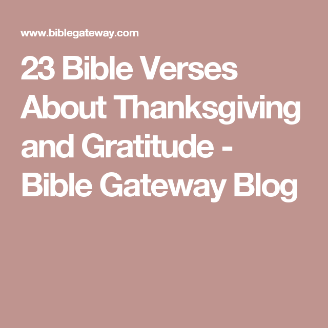 23 Bible Verses About Thanksgiving and Gratitude | words | Bible