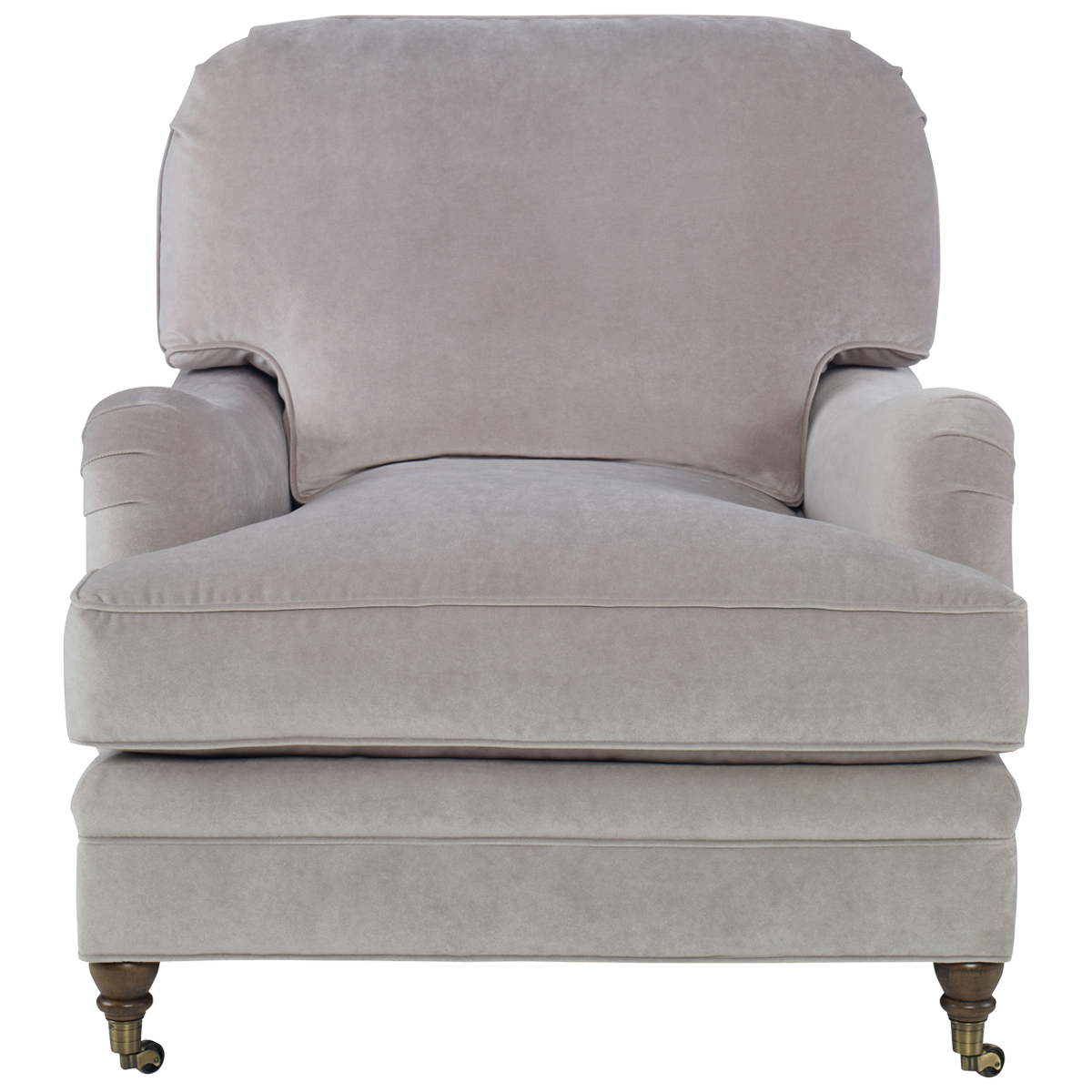 Overstuffed Living Room Chairs: Taupe Allegro Deep Chair