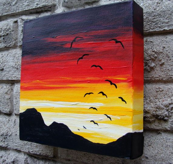 A Sunset Soar Original Acrylic Painting By LisahPilchak On Etsy 4900