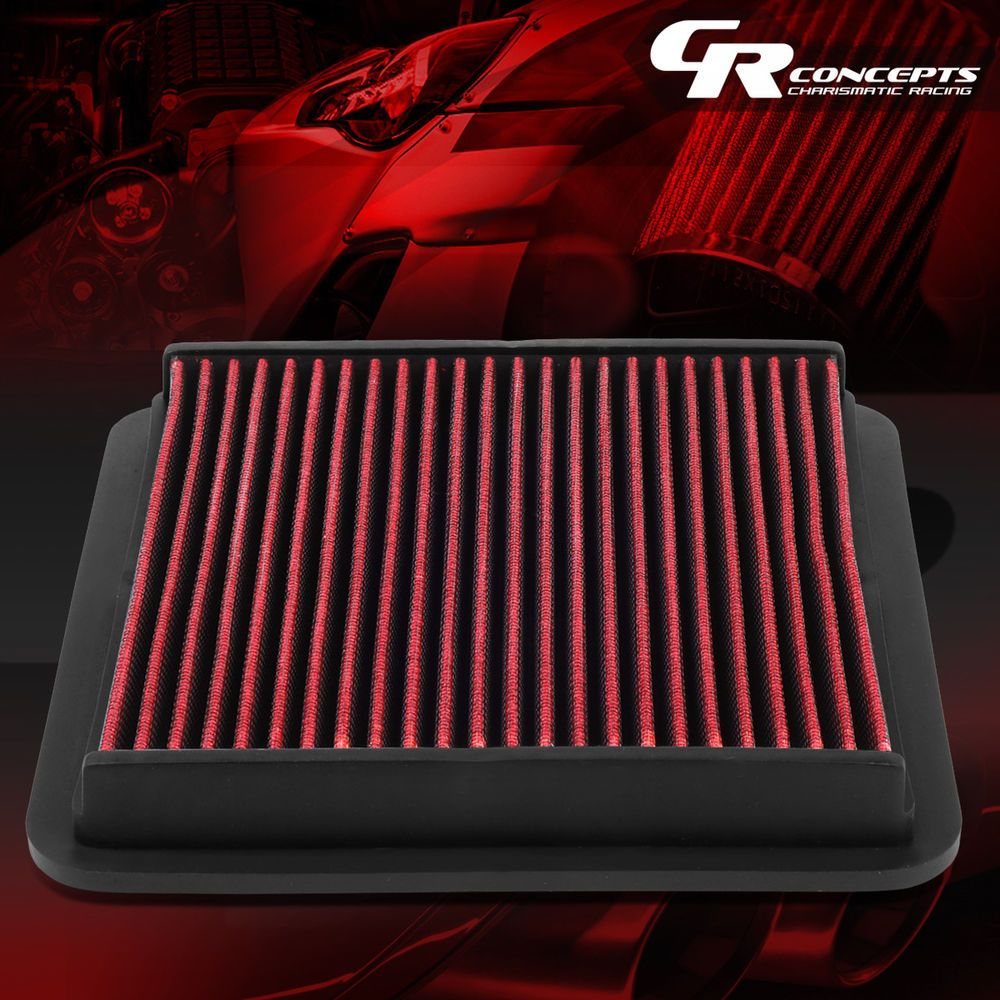 RED WASHABLE HIGH FLOW AIR FILTER FOR 0517 SUBARU LEGACY