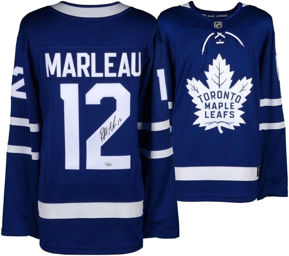 on sale 900ff 3dfcb Patrick Marleau Toronto Maple Leafs Autographed Blue ...