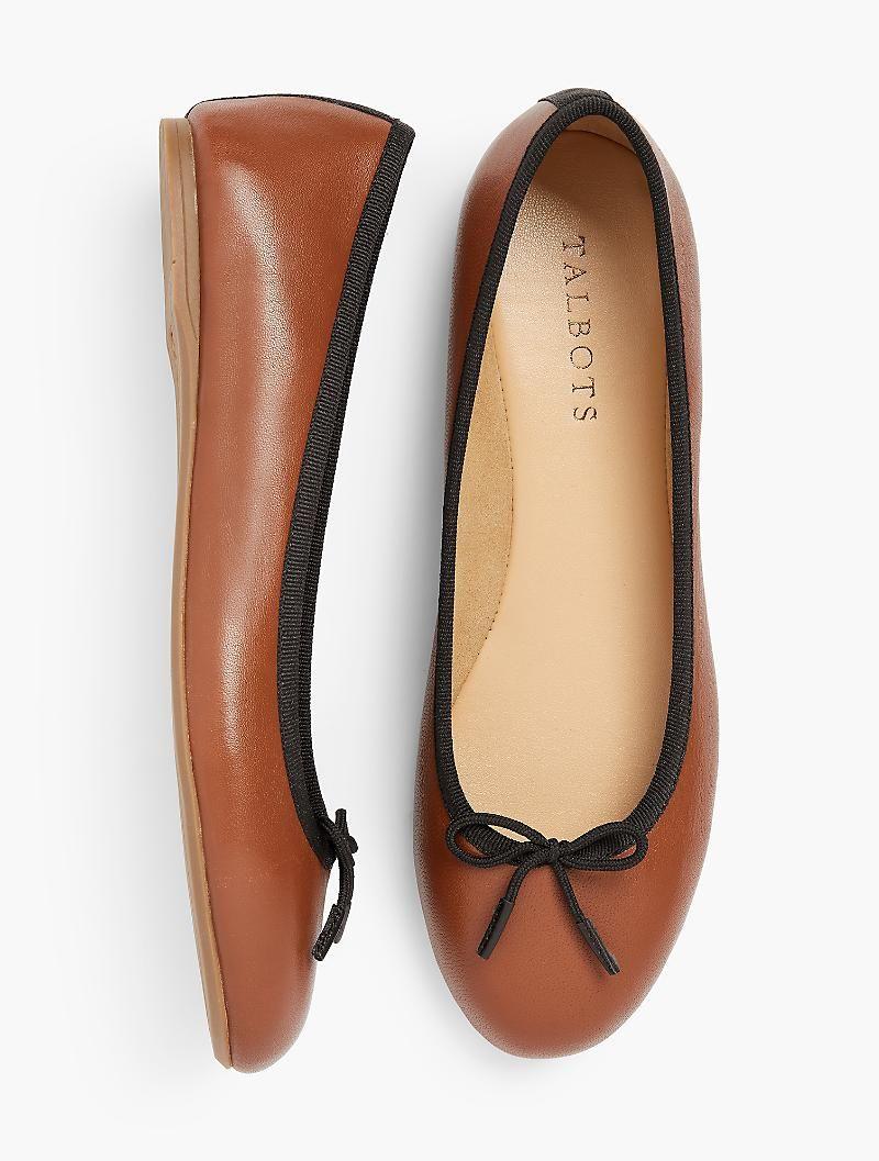 ebd5bf81d3e Penelope Scalloped Ballet Flats - Napa Leather