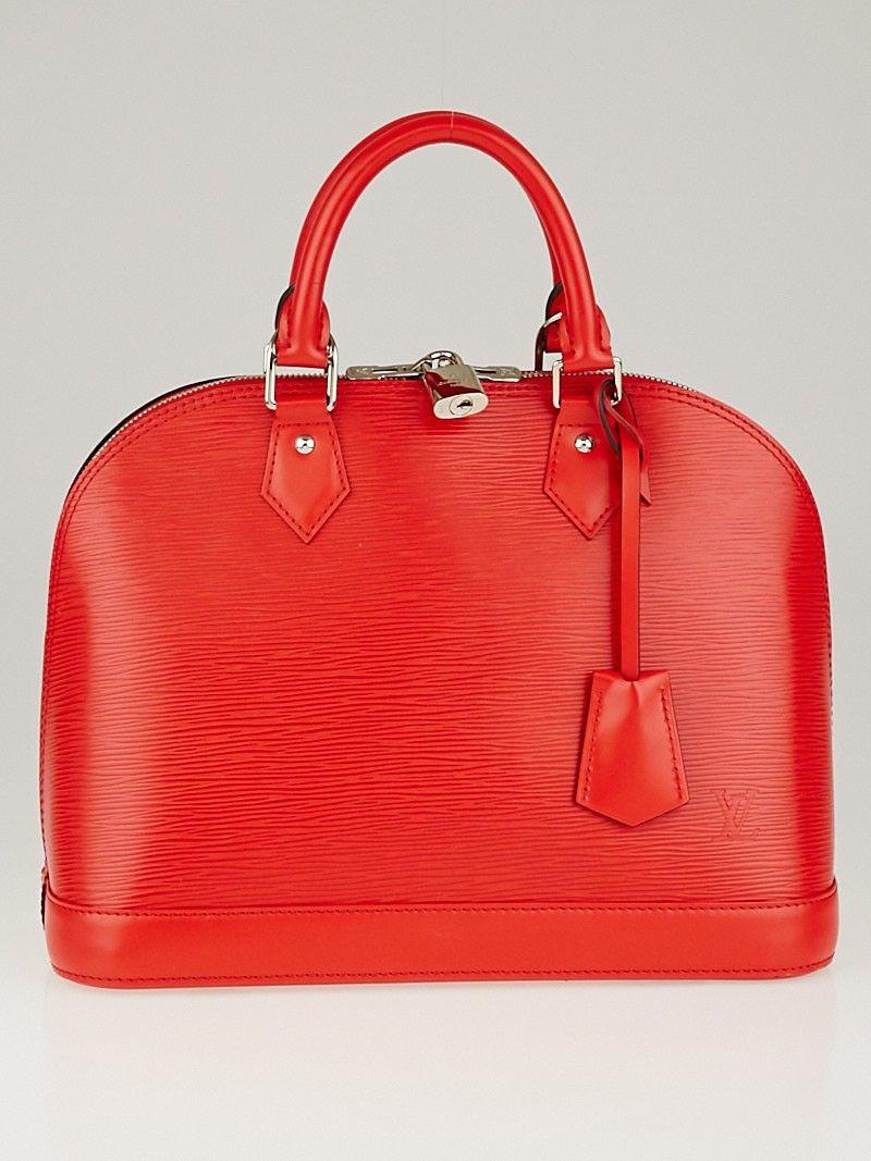 ac43b702617d Louis Vuitton Coquelicot Epi Leather Alma PM Bag - Yoogi s Closet