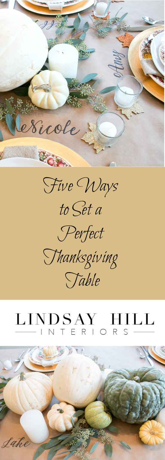 Five Ways to Set a Perfect Thanksgiving Table #thanksgivingtablesettings