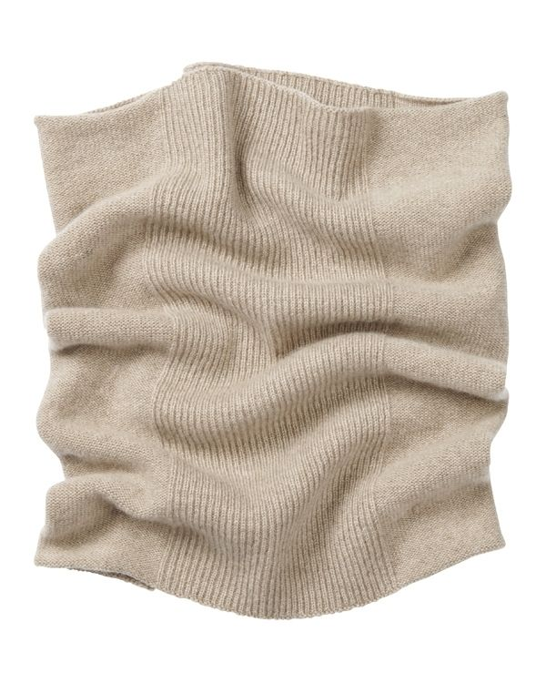 Keep warm .. cashmere rib snood