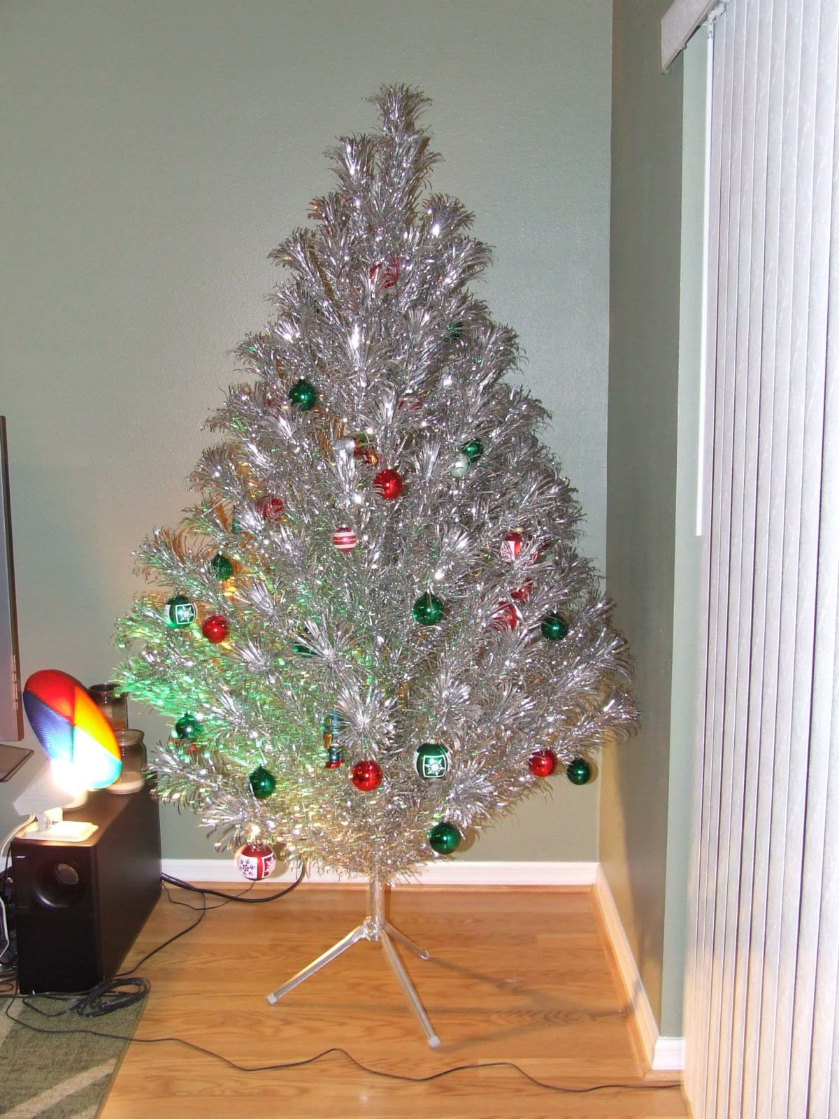 Aluminum Christmas Tree With Color Wheel. Brings Back Many Memories For Me!