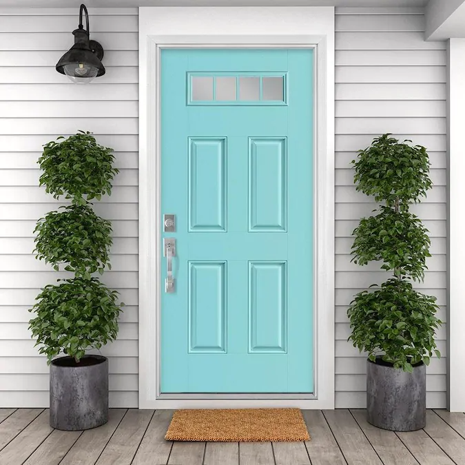 Masonite 36 In X 80 In Fiberglass 1 4 Lite Right Hand Inswing Caribbean Blue Painted Prehung Single Front Door Brickmould Included Lowes Com In 2020 Blue Paint Fiberglass Exterior Doors Masonite Masonite is committed to delivering unsurpassed performance in exterior doors and glass products. pinterest