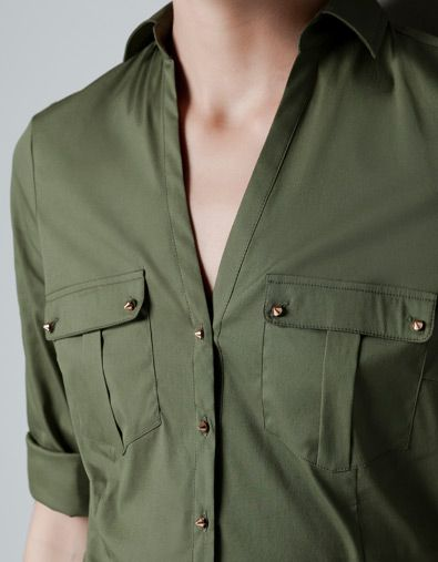 4f2662cb SAFARI SHIRT - Shirts - Woman - ZARA United States   her shirts ...