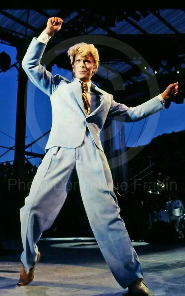 David Bowie performing during his Serious Moonlight Tour