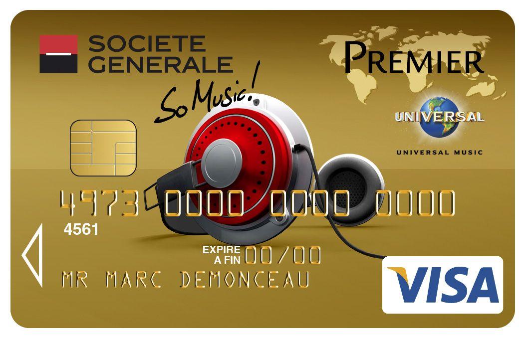 Célèbre Carte Visa Premier So Music Société Générale. #Casque | Cartes  TI26