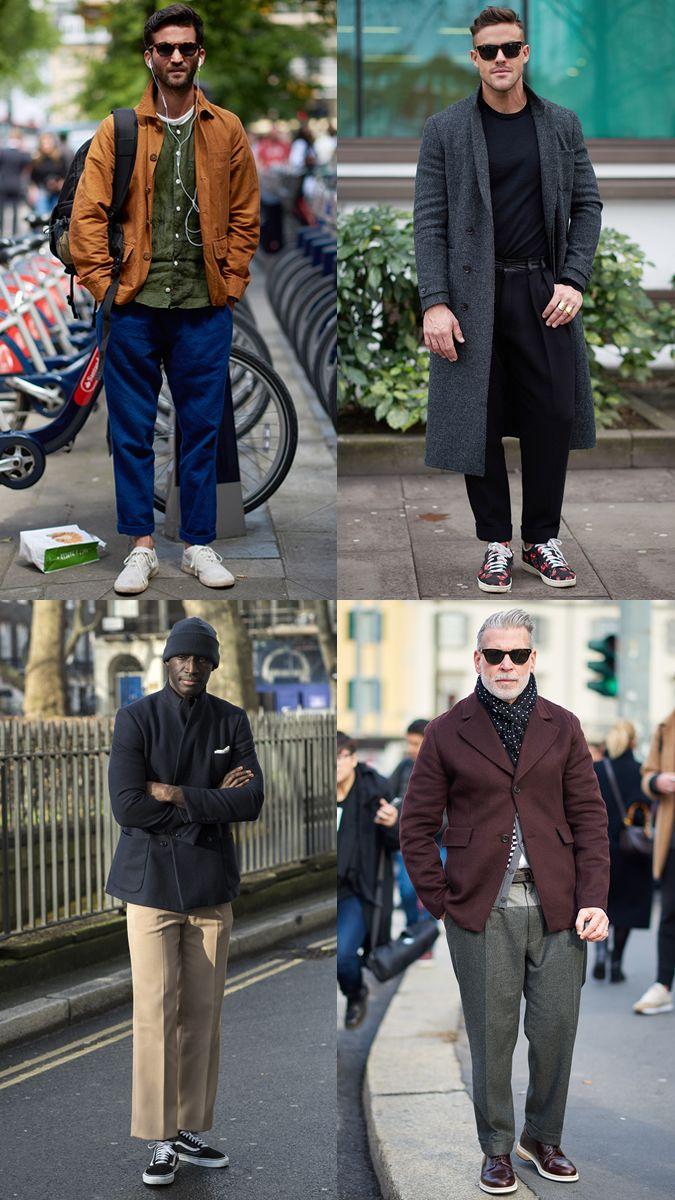 Men\u0027s Street Style Trends , Wide,Leg Trousers