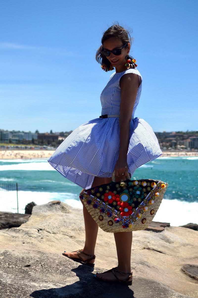 Sicily Bag Gigi in Sydney at iconic Bondi beach. Bringing some Sicilian flair to down under. All Sicily Bags are handcrafted by a local artisan in Sicily.