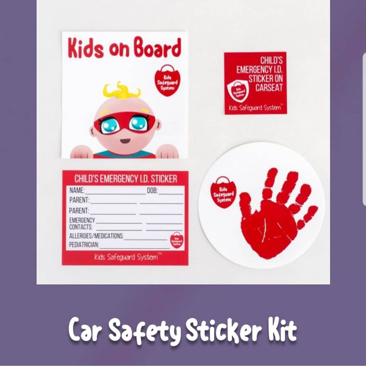 Check out our new car seat safety stickers! Now available