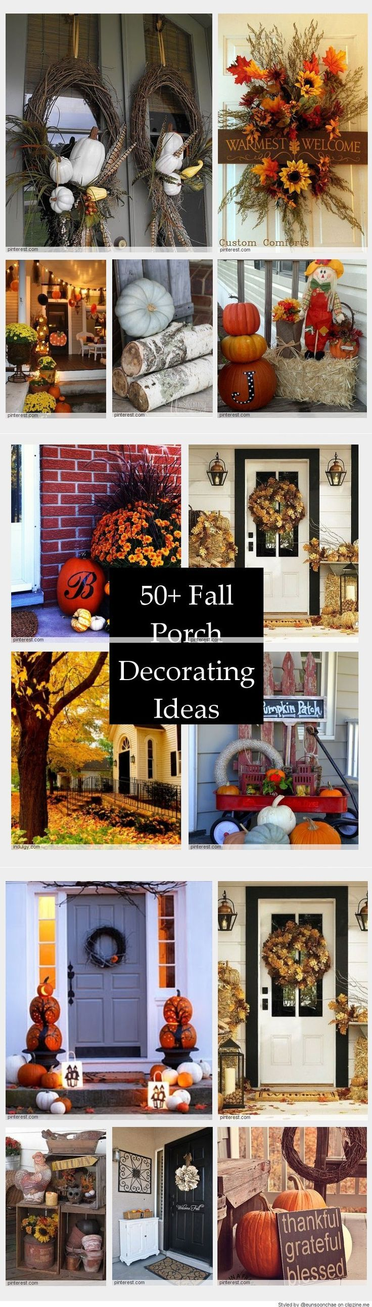 Fall Porch Decorating Ideas & Fall Porch Decorating Ideas | Front porch ideas! | Pinterest | Porch ...