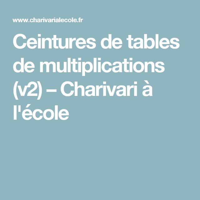 juste prix très loué Ceintures de tables de multiplications (v3   Math   Table de ...