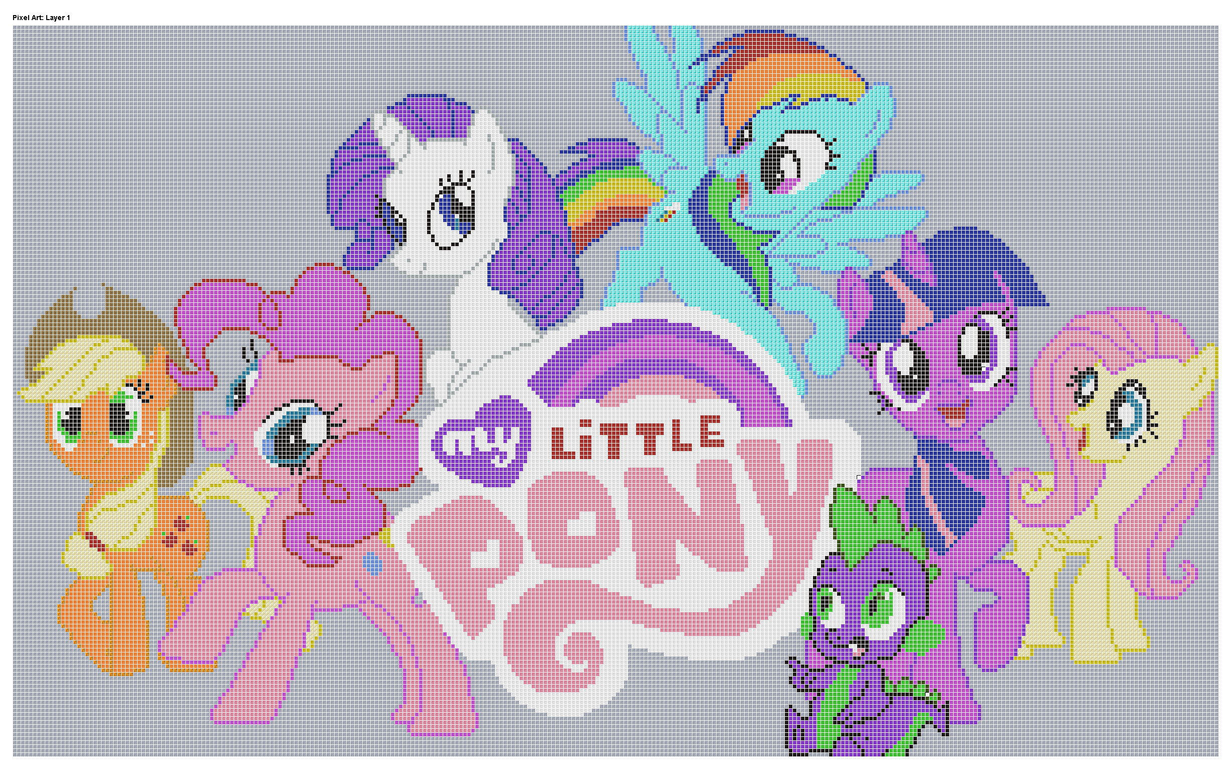 Images For Minecraft Pixel Art Templates My Little Pony Twilight