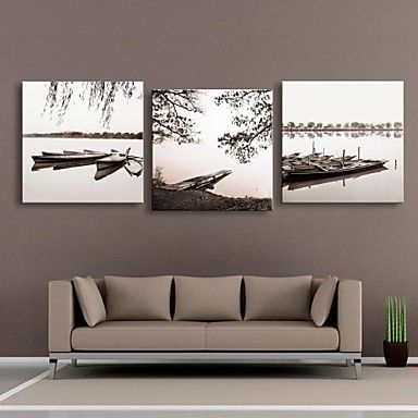 Personalized Canvas Print Bank 45x45cm 55x55cm Framed Canvas Painting Set of 3 - USD $ 58.99