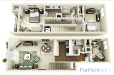 Waterford Place Townhomes For Rent In Eagan Minnesota Apartment Floor Plans Studio Apartment Floor Plans Small House Blueprints