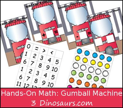 Gumball Machine: Hands-on Math - addition, subtraction, counting ...