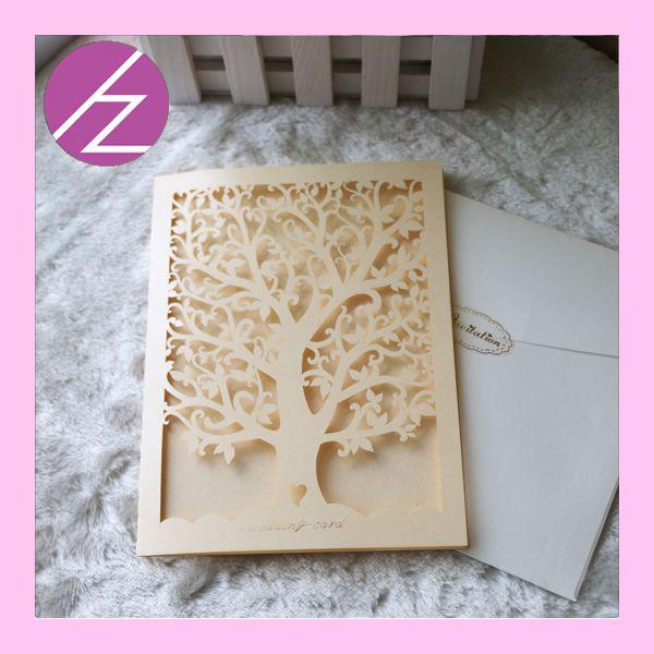 Aliexpress 50pcs Lot Pearl Paper Laser Cut Heart Tree Wedding Invitation