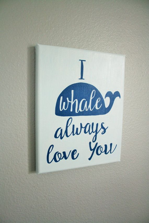 Whale Nursery I Always Love You By Frombellewithlove On Etsy