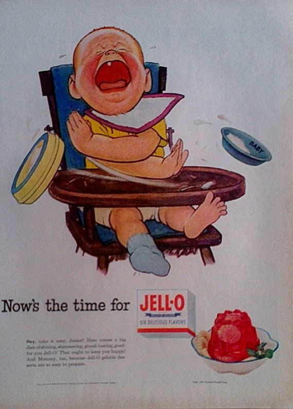 1952 jell o vintage advertisment print food ads kitchen by inkart 3 00