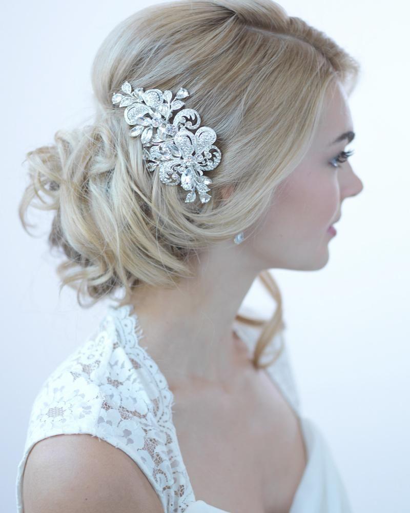 tessa rhinestone clip in 2019   products   wedding hair