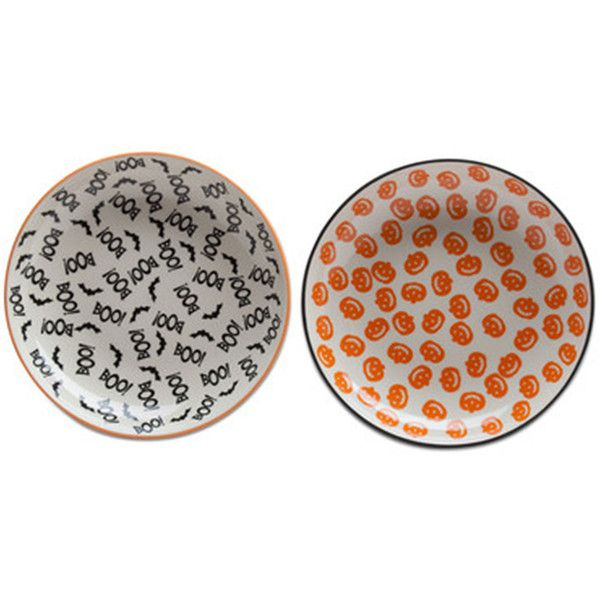 Dinner Plate ($60) ❤ liked on Polyvore featuring home kitchen \u0026 dining dinnerware tag dinner plates tag dinnerware halloween dinnerware and halloween ...  sc 1 st  Pinterest & Tag Halloween Pumpkin And Boo 2-pc. Dinner Plate ($60) ❤ liked on ...